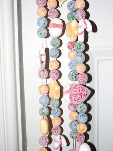 Frosted Candy Christmas Garland 9 Ft, NEW, Qty 4 Avail