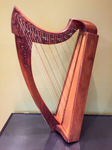 CELTIC HARP - Ron Wall 29 String Handcarved RARE