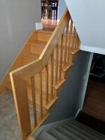 Pose d'une rampe d'escalier intérieur