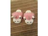 Unicorn slippers size 3