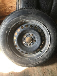 4 Honda Civic winter tires on rims