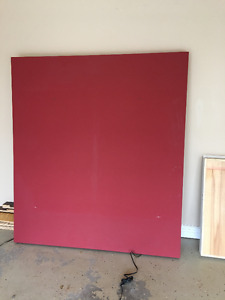 Large sheet of wood Frame 5 foot wide (60 inches) x 67.5 inches.