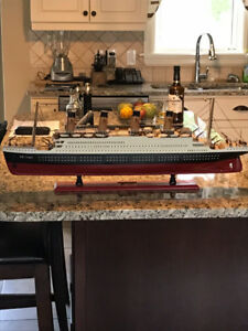 Large scale model of the Titanic ship