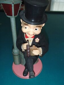 Vintage TIN TOY Hobo  Drunk  Lampost - Japan REDUCED PRICE!
