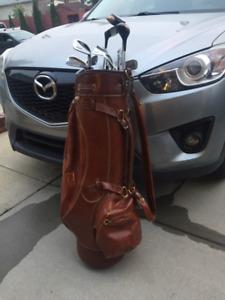 Leather Wilson Staff Golf Bag