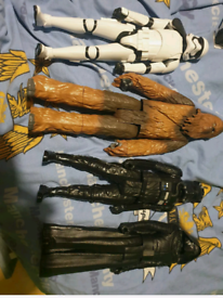 Star wars and Hulk figures
