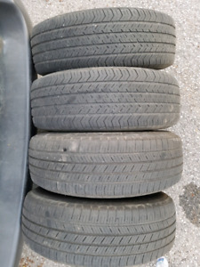 4 tires with rims 215 70 R15, dodge caravan from 1999 till 2007