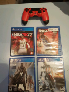 4 PS4 Games Plus One Controller