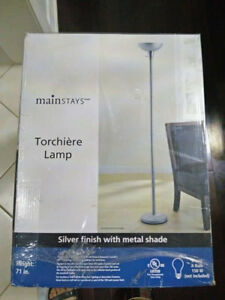 Brand New Aluminum Floor Lamps - Unopened
