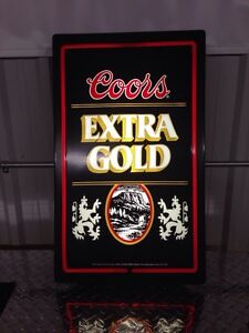Collectible Coors Extra Gold Beer Sign !