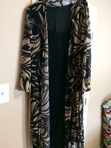 Plus size formal dress with lightweight over coat!
