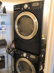 LG Steam Washer and Dryer front load stack (Excellent Condition)