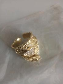 Gold filled ring new adjustable