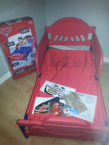 Red Disney Cars Toddlers Bed