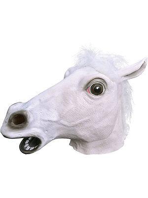 White Rubber Horse Head Mask Panto Fancy Dress Party Cosplay Halloween - White Horse Head Kostüm