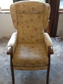 High back winged chair
