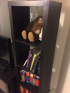 Solid Black Cube Shelves