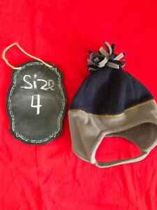 Brand New boys fleece winter hat with Velcro straps - 4T