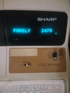 Sharp ER-A570 Electronic Cash Register for sale