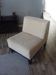 Modern Style Beige Chairs (2) - slightly used