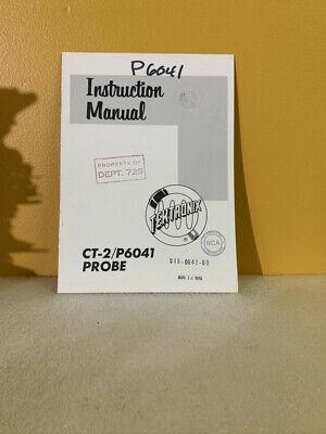 Tektronix 015-0047-00 Ct-2p6041 Probe Instruction Manual