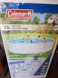 Brand new, still in box, Coleman 15 foot pool