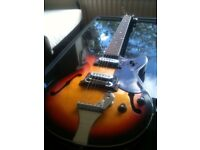 1960s Audition semi-electric guitar