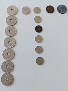 Lot of 16 world coins (Denmark, Sweden) RARE!