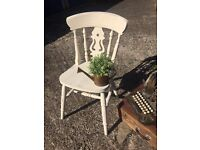SHABBY CHIC OAK WOOD DESK CHAIR BEDROOM FREE DELIVERY