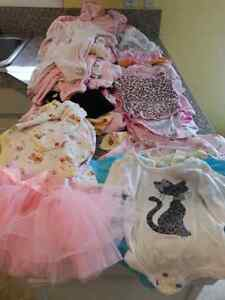 Girl's 0-3 month clothing lot