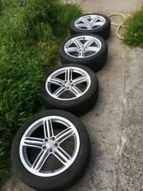 "Genuine Audi Q5 sline 20"" alloys Goodyear tyres"