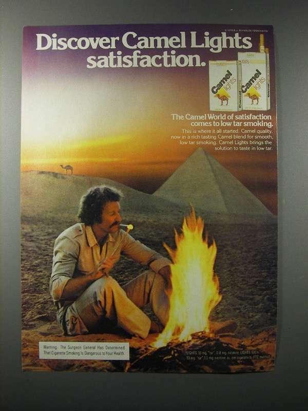1979 Camel Lights Cigarette Ad - Satisfaction
