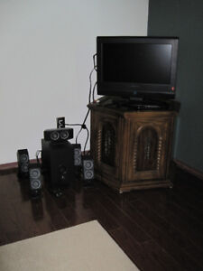 Electron TV, Logitech Surround Sound, and Octagonal Stand