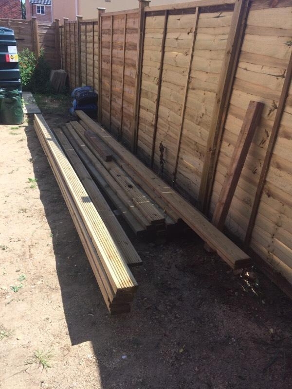 New ten long deck boards 12cm wide in bury st for 4 8 meter decking boards