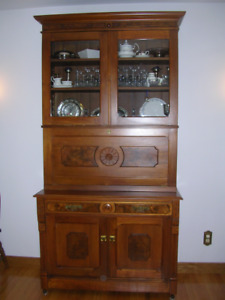 Antique Desk/Bookcase but used as China Cabinet/Bar/Buffet