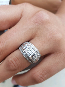 Engagement ring and 2 bands!