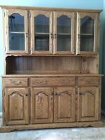 dining table, chairs, buffet hutch, mint, custom made