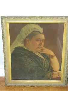 QUEEN VICTORIA PRINT. Framed