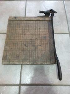 Antique Monarch Paper Cutter.
