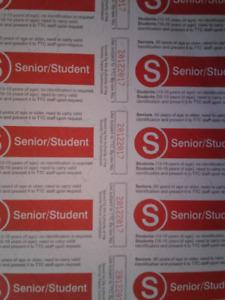 TTC Senior/Student Tickets Cheap