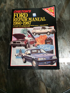 Chilton Ford Repair Manual 1980 to 87 for all cars and trucks