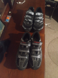 Cycling shoes, size 45, 2 prs