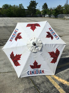Coors Light/Molson Canadian Beer Patio Umbrellas GREAT CONDITION