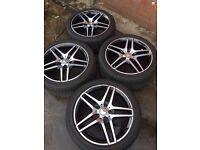 Mercedes E class w212 amg alloy wheels