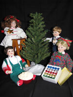Christmas themed doll collection