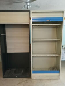 Metal storage cabinets roll up doors Deacon @Wright brand