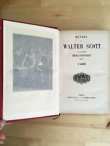 Sir Walter Scott – L'Abbé, en français Jouvet et Cie c1884