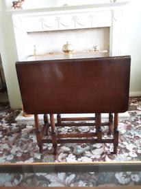 Vintage Dark Wood Drop Leaf Table