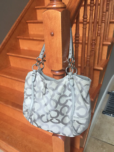 Large Authentic Coach Monogram Purse