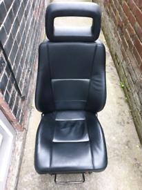 Black Cab Full Leather Seat
